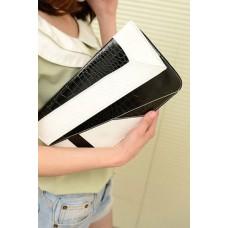 Handtasche schwarz/weiss