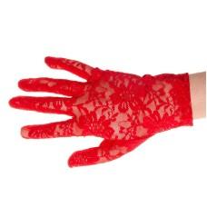 Spitze Handschuhe rot