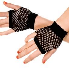 Kurze Netzhandschuhe schwarz