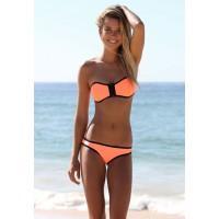 Trägerloses Bikini orange