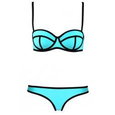 Bikini türkis/schwarz
