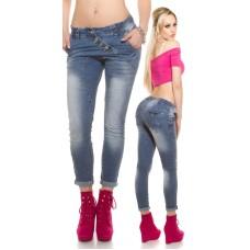 Skinny Jeans mit Knopfleiste