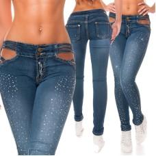 Skinny Jeans mit Strass