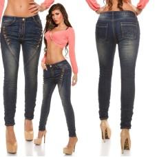 Skinny Jeans mit Knöpfen