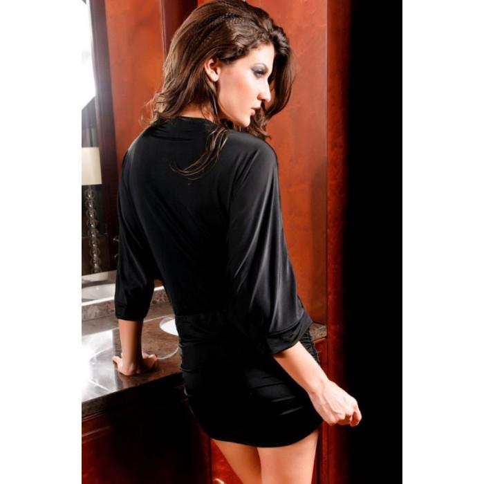 VAusschnitt Kleid schwarz