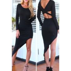 Langarm Kleid schwarz