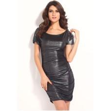 Kurzarm Kleid silber