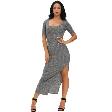 Sidecut Kleid grau