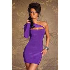 Einarm Minikleid violett