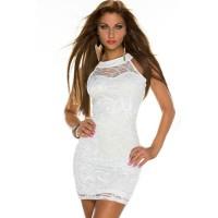 Spitze Kleid weiss