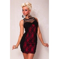 Spitze Kleid rot/schwarz