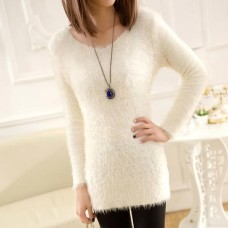 Angora Pullover weiss