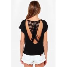 Backless Shirt schwarz