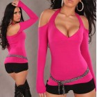 Neckholder Shirt pink