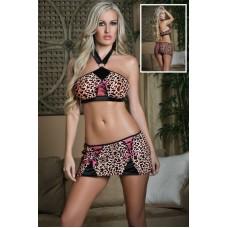 Leopard Wäscheset braun